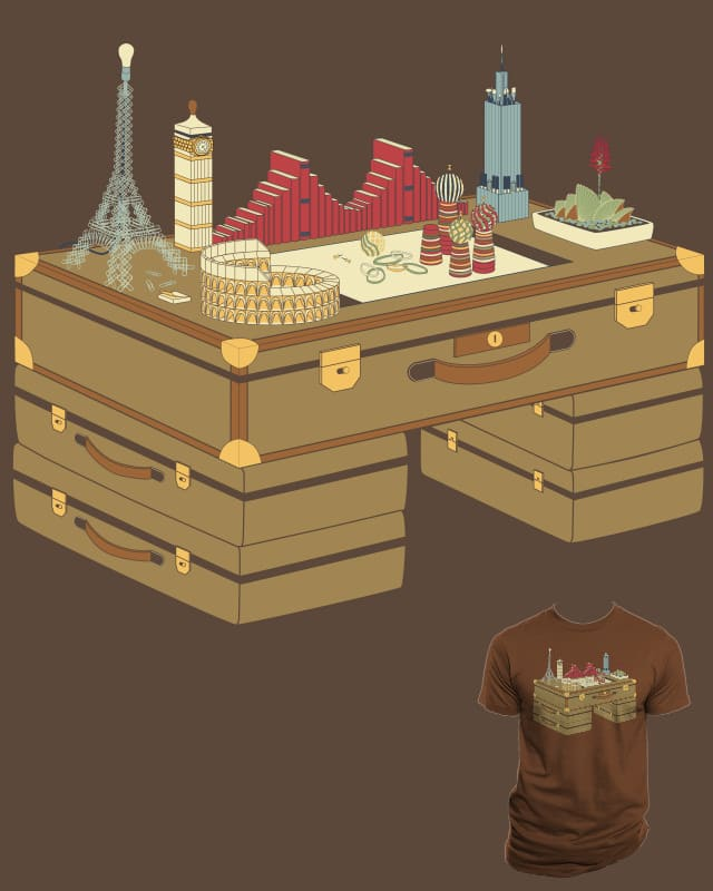 The Desk Traveller by dacat on Threadless