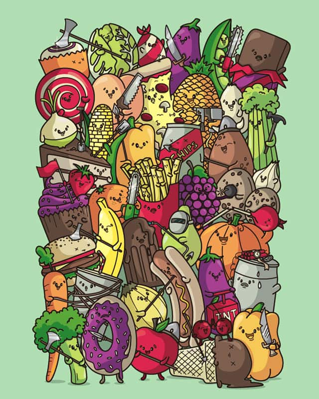 Food Fight by Recycledwax on Threadless