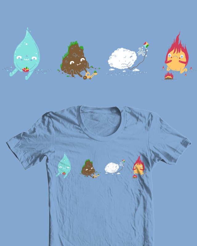 Elementals and their toys by randyotter3000 on Threadless