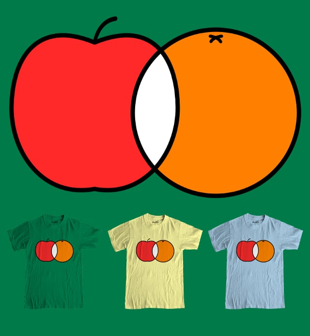 Apples & Oranges by tracerbullet on Threadless