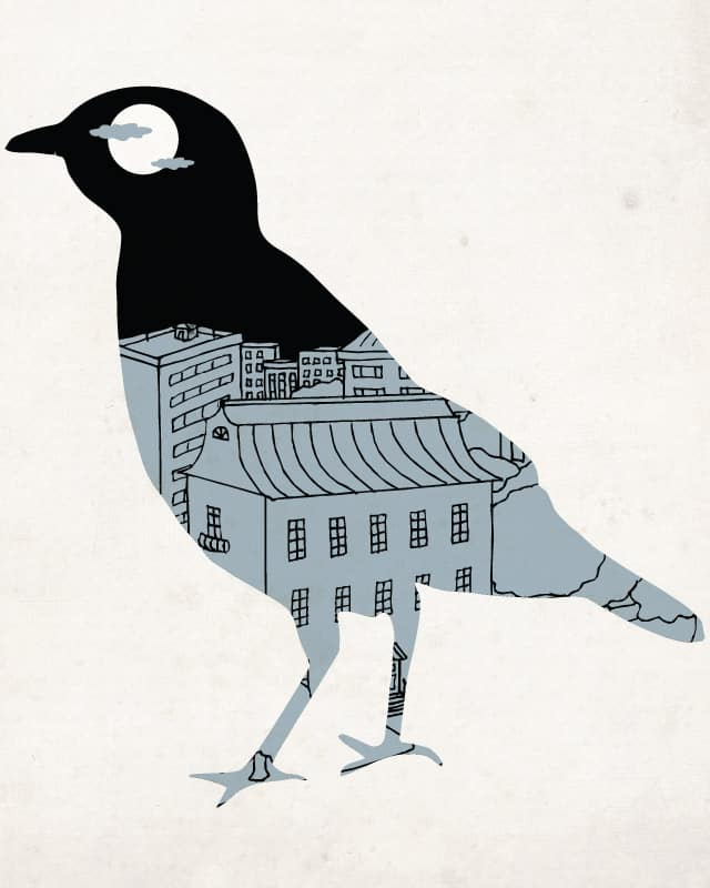 birdtown at night by edgarscratch on Threadless