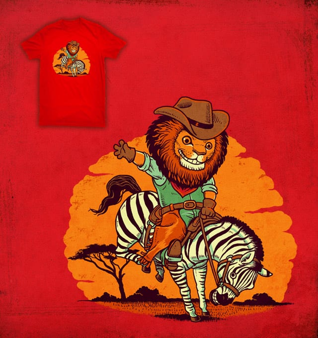 Cowboy Lion by ben chen on Threadless