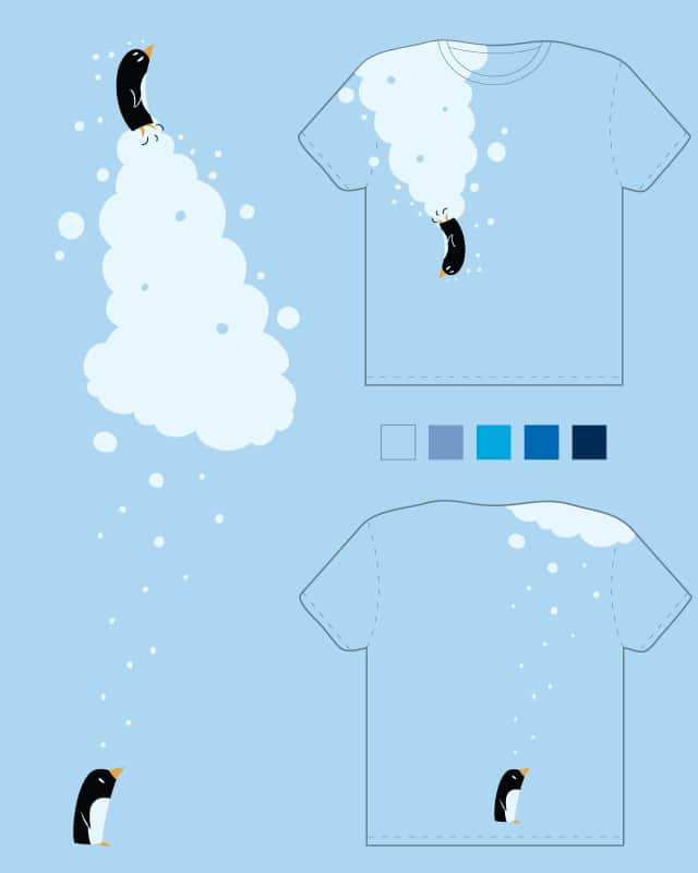 Two pinguins in the water and under the snow. by k-fehin on Threadless