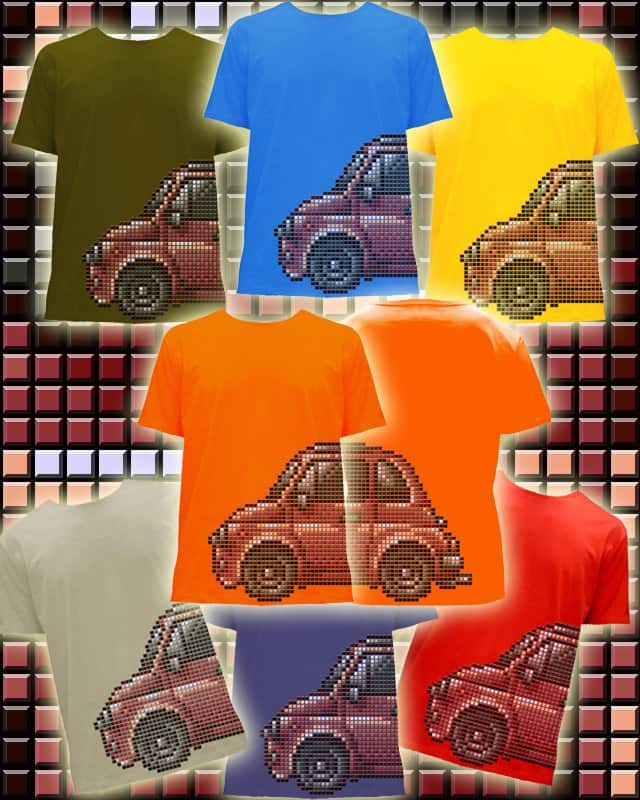 Bitmap Car by Shinryuu on Threadless