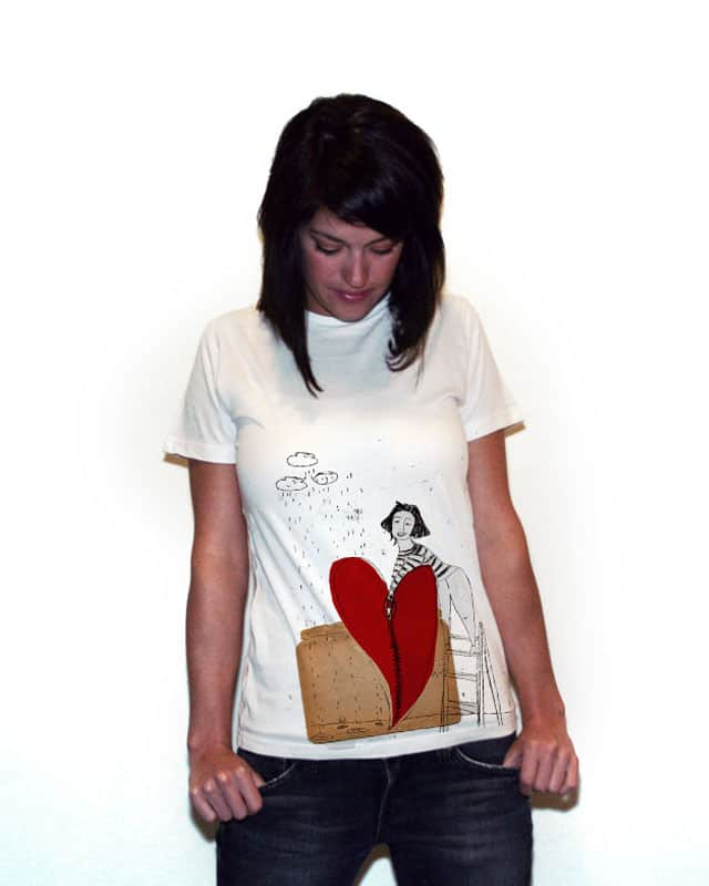 Lady and the heart by mistralle on Threadless