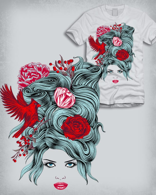 Red Girl by ThirstyFly on Threadless