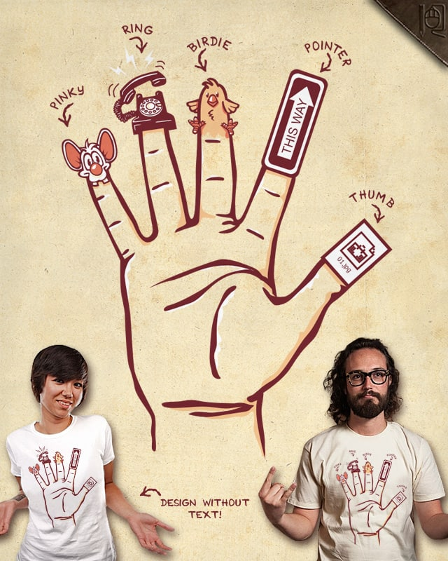 Know your fingers by rodrigobhz on Threadless