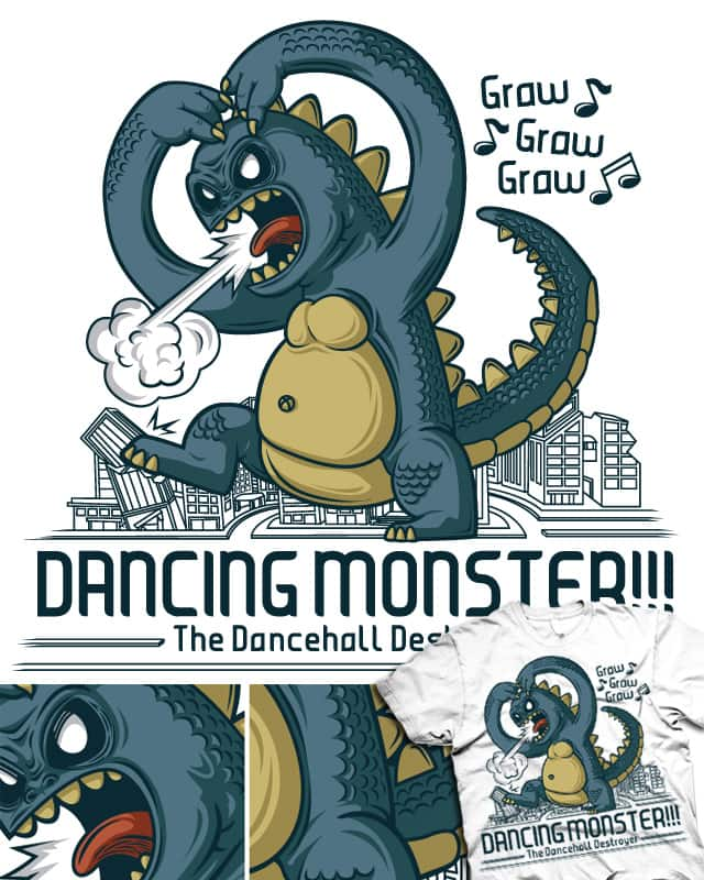 Dancing Monster!!! by sayahelmi on Threadless
