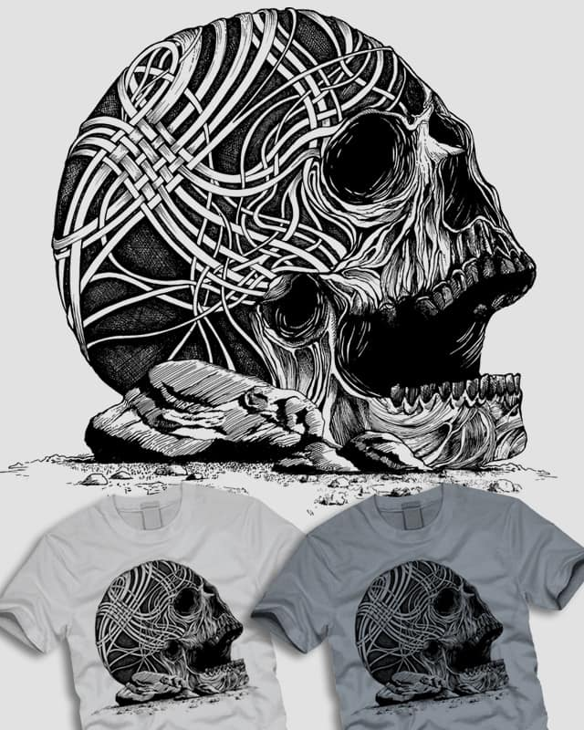 Woven Skull by ThirstyFly on Threadless