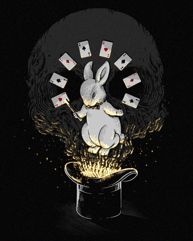 Black Magic Rabbit by alexmdc on Threadless