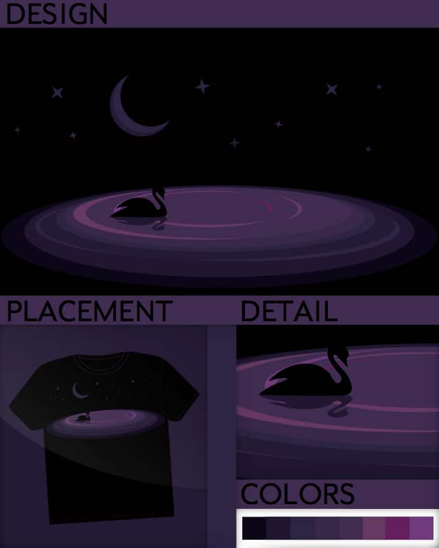 Night Swan by DanLipson on Threadless