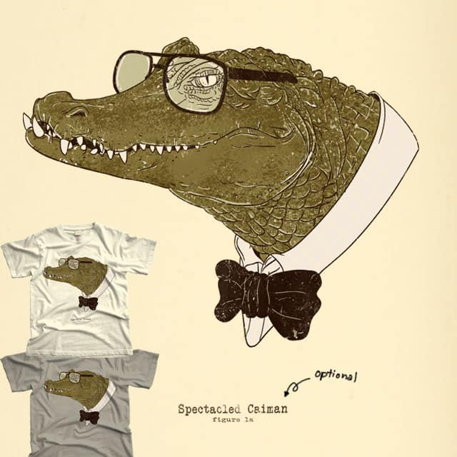 Spectacle(d) Caiman by xiaobaosg on Threadless