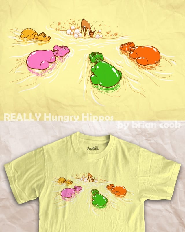 REALLY Hungry Hippos by briancook on Threadless