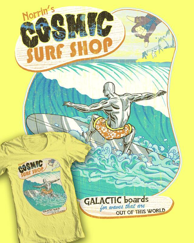 Silver Surf Shop by robbielee on Threadless