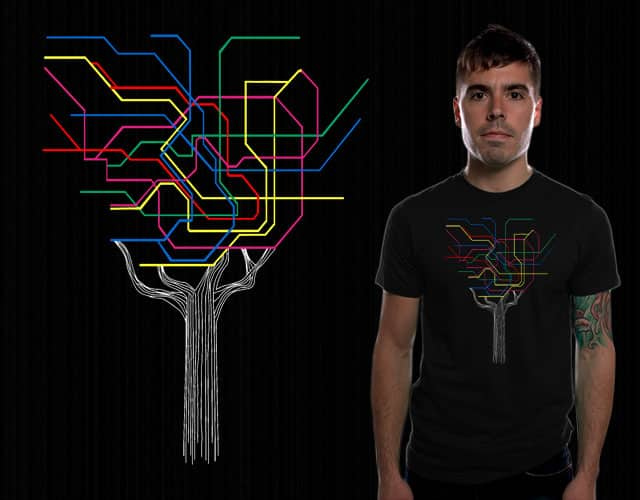 Subway Maps Look Like Trees by TeoZ on Threadless