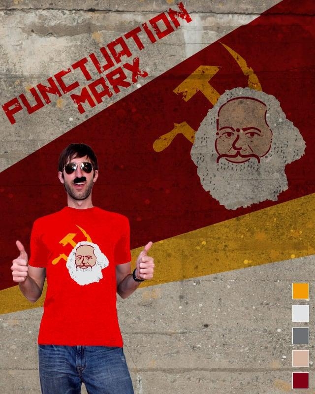 Punctuation  Marx by kfunque on Threadless