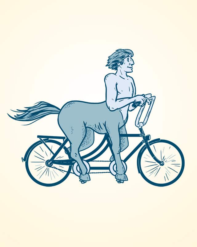 A Bicycle Built For One by cosmonautscott on Threadless