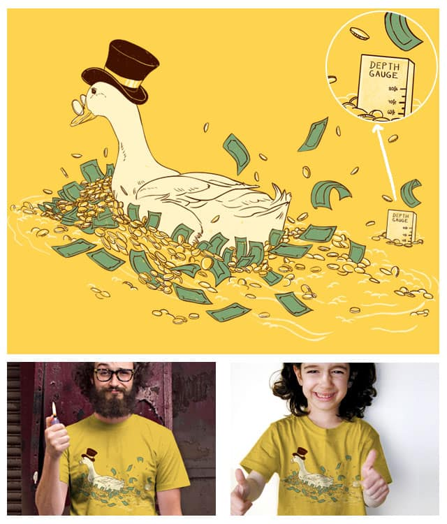 Money Swim by xiaobaosg on Threadless