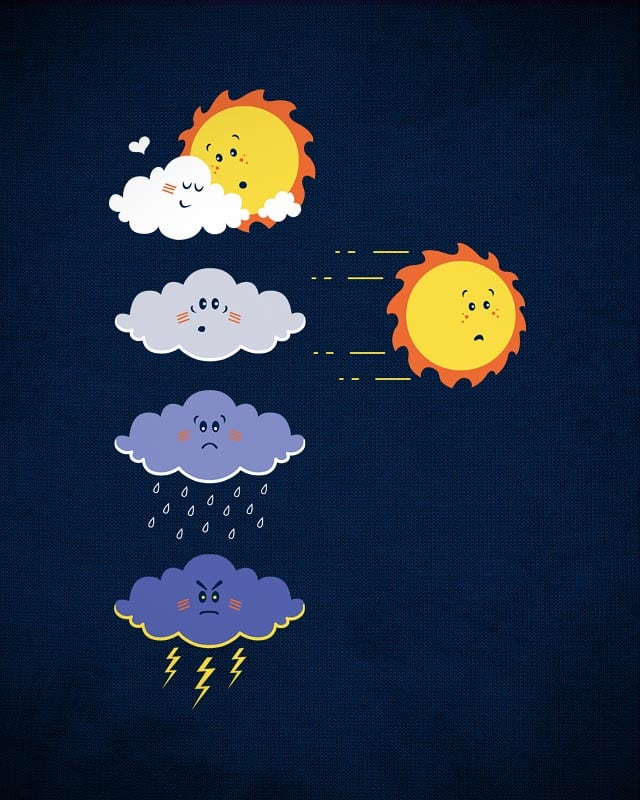 What causes lightning and thunder by QuietCity on Threadless