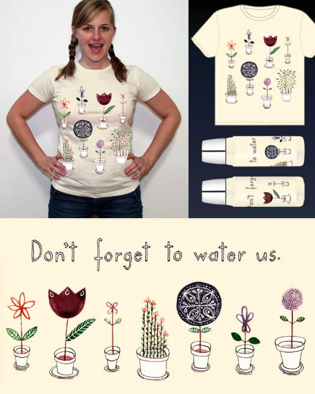 Flowers in pots. by semiblanca on Threadless
