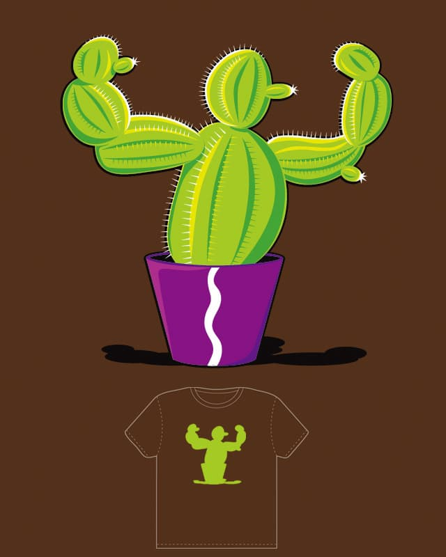 Strong Cactus by Zen Studio on Threadless