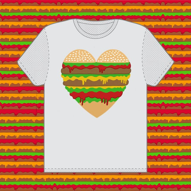 I (love) Burgers, even if you don't. by state28 on Threadless