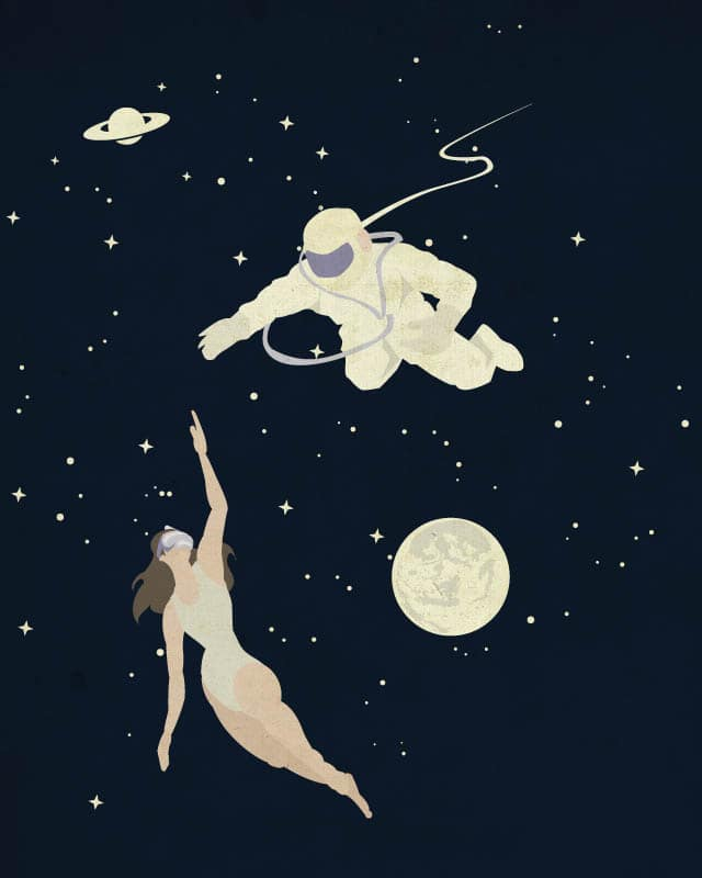 to the space by edgarscratch on Threadless