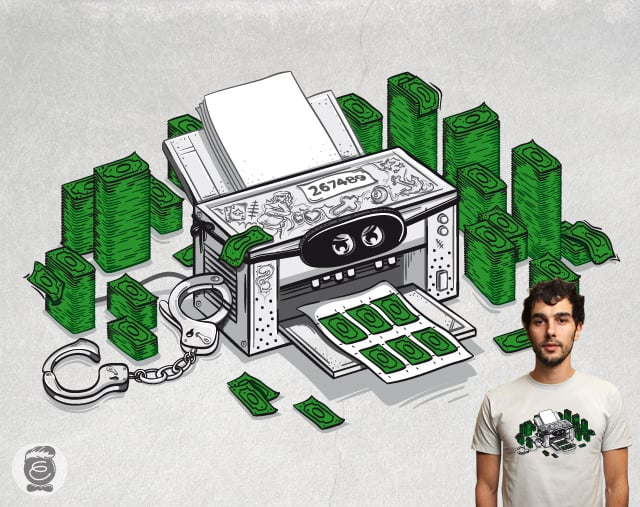 Criminal Printer by Robert_Richter on Threadless