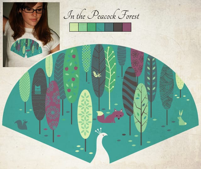 In the Peacock Forest by Leroy_Hornblower on Threadless