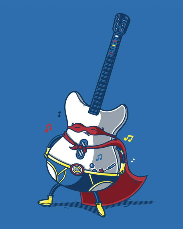 Guitar Hero by Recycledwax on Threadless