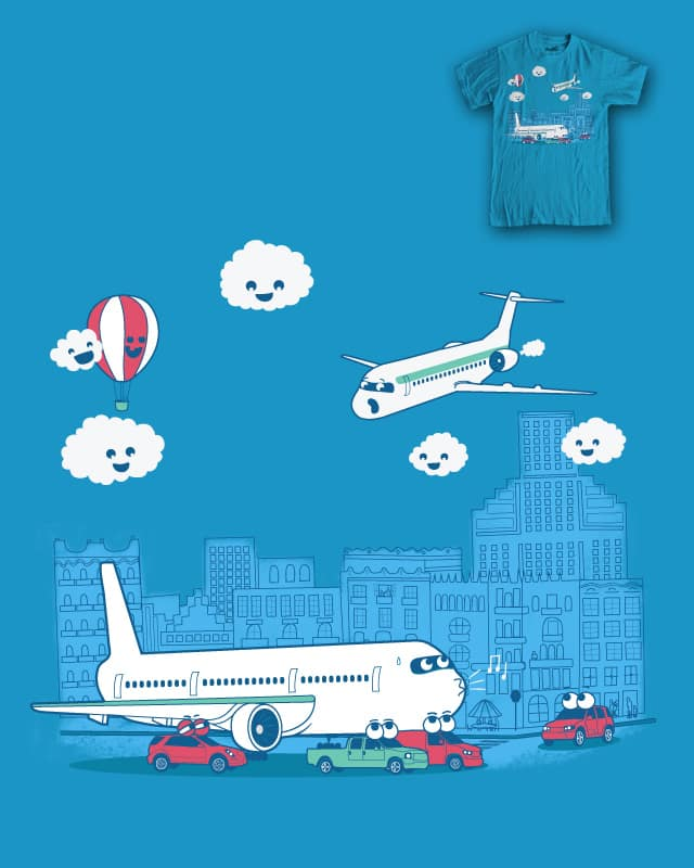 Fear of Flying by Andres Colmenares on Threadless