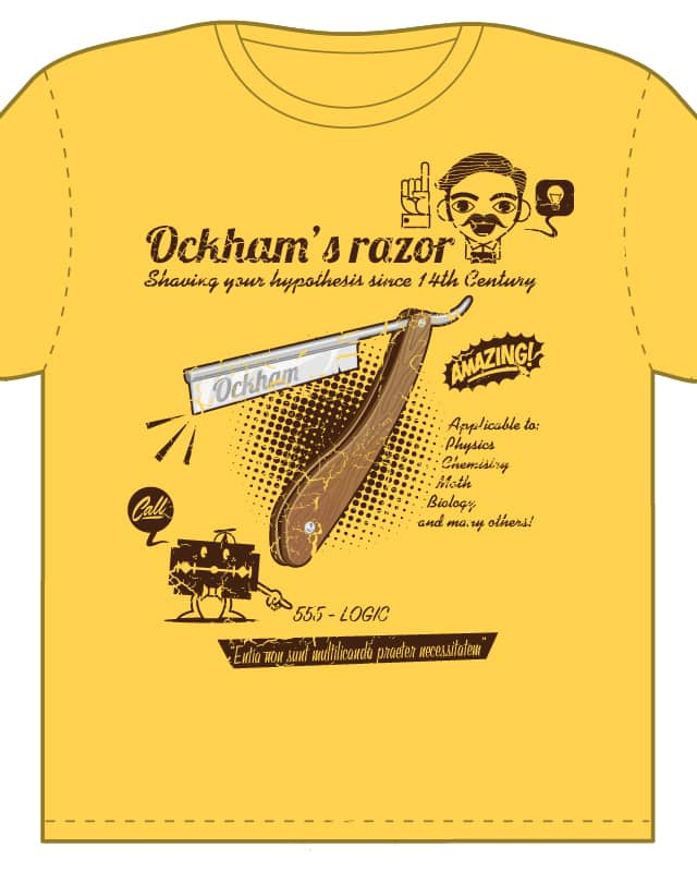 Ockham's razor by TokyoCandies on Threadless