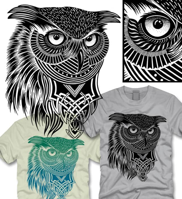Warrior Owl by ThirstyFly on Threadless