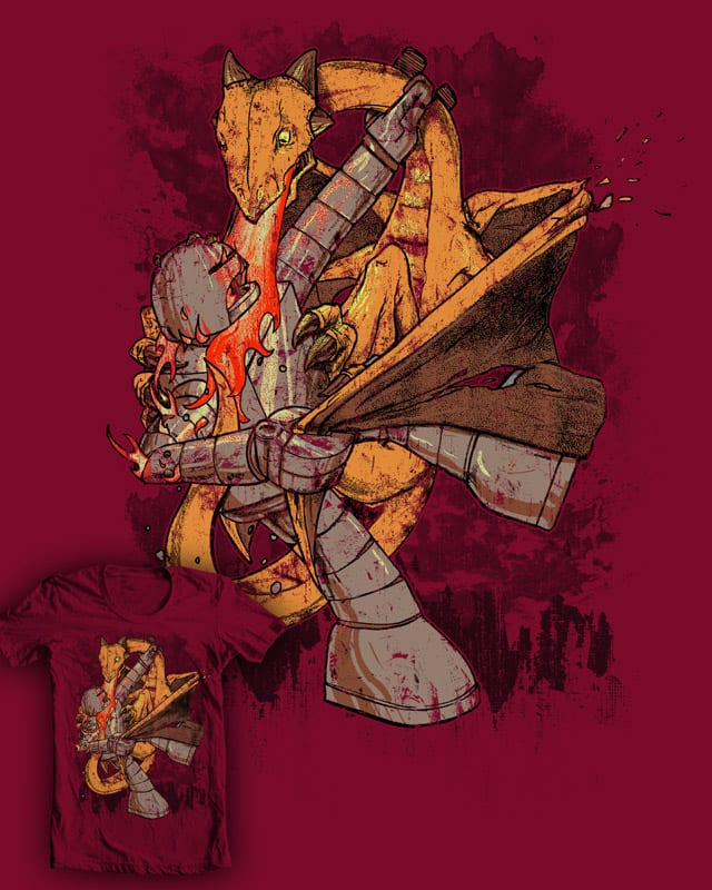Robot Vs Dragon by robbielee on Threadless