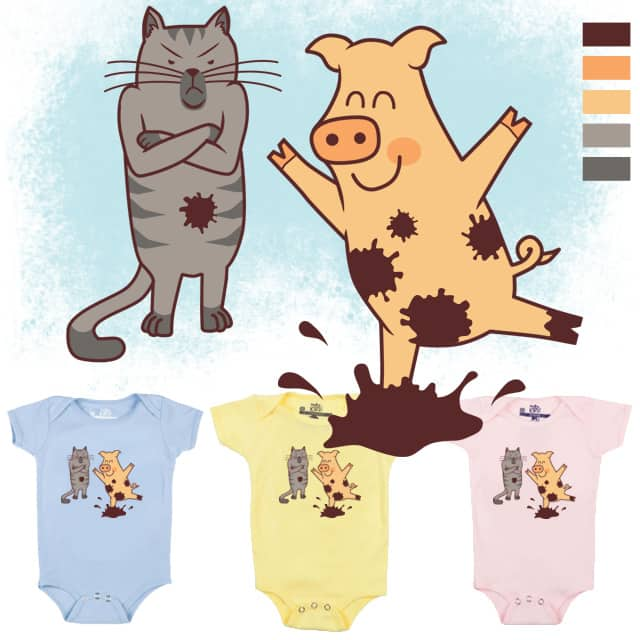 Piggy in the Muddle by lilgoodevans on Threadless