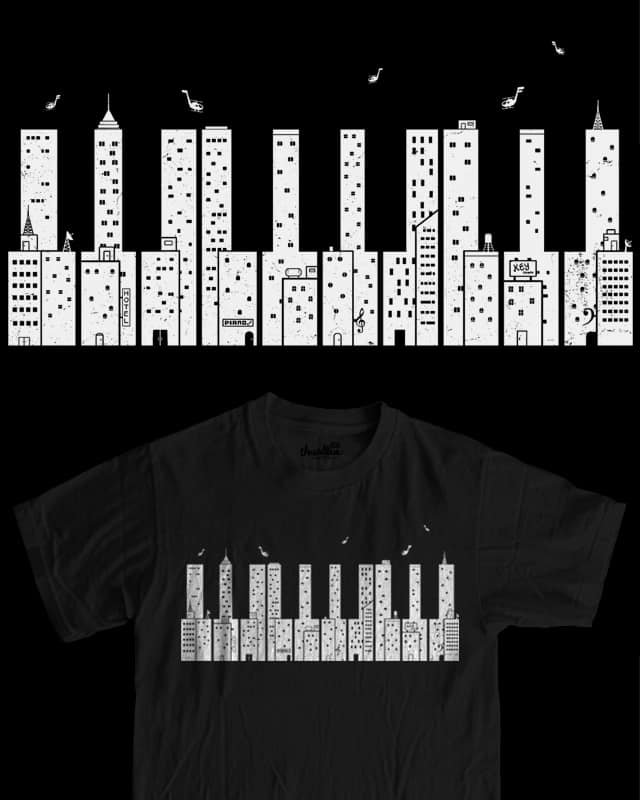 piano skyline by boostr29 on Threadless