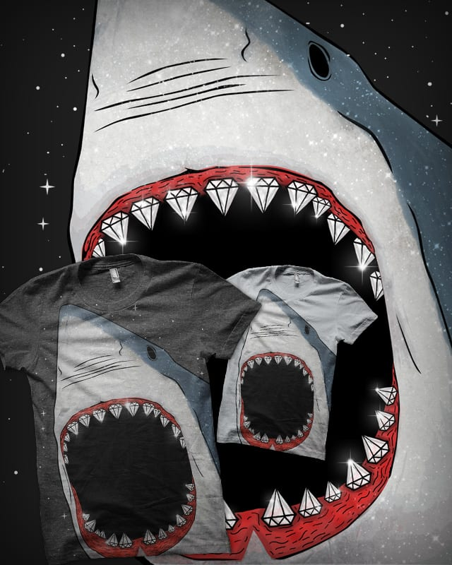 Diamonds Are a Shark's Best Friend by seasidex on Threadless