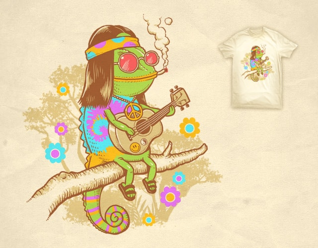 Hippie Chameleon by ben chen on Threadless