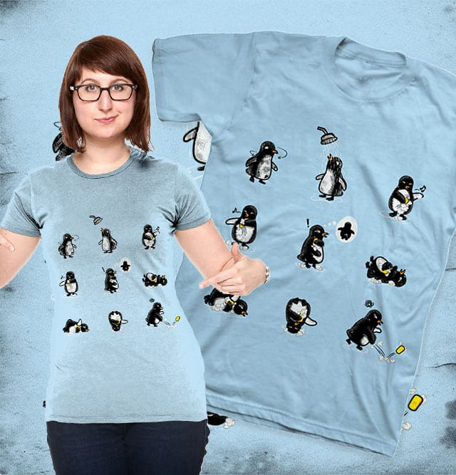That's why only front of penguin is white by Wilfur on Threadless