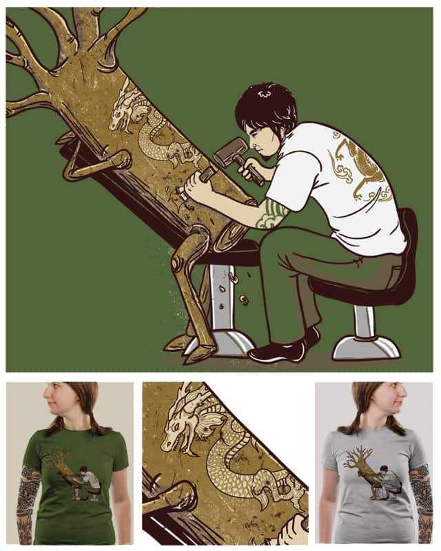 The Wood With The Dragon Craving by xiaobaosg on Threadless