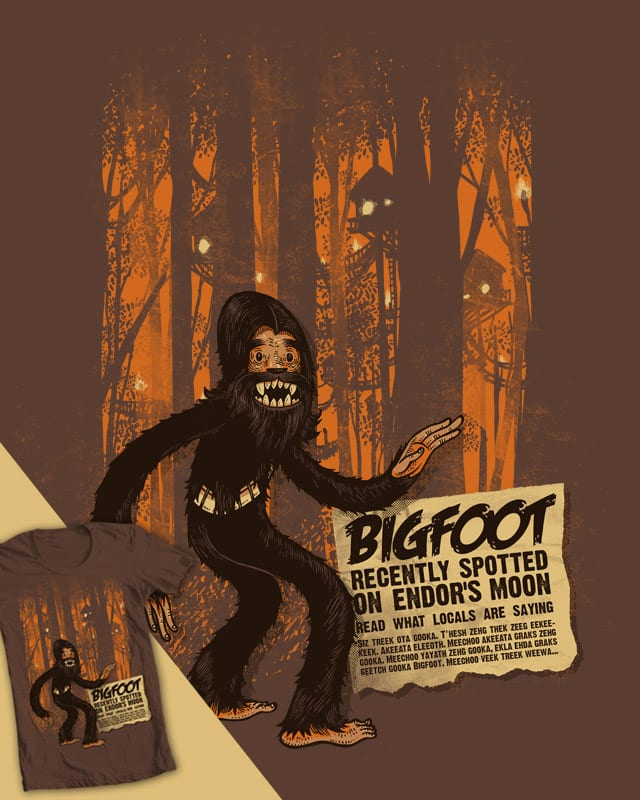 Bigfoot spotted on... by Mr-R on Threadless