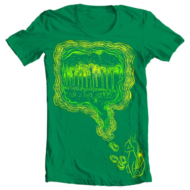Green is a path that's made by JuanNavarro on Threadless
