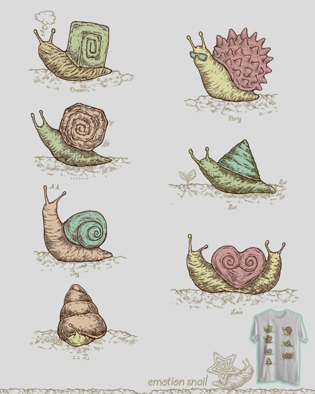 Emotion Snail by jimmytan on Threadless