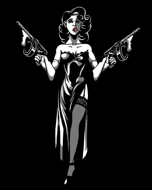 La Demoiselle en Noir by moulin bleu on Threadless