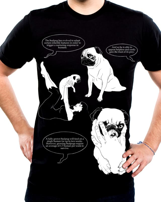 The eating habbits of the Sealpug. by evernoticedhow on Threadless