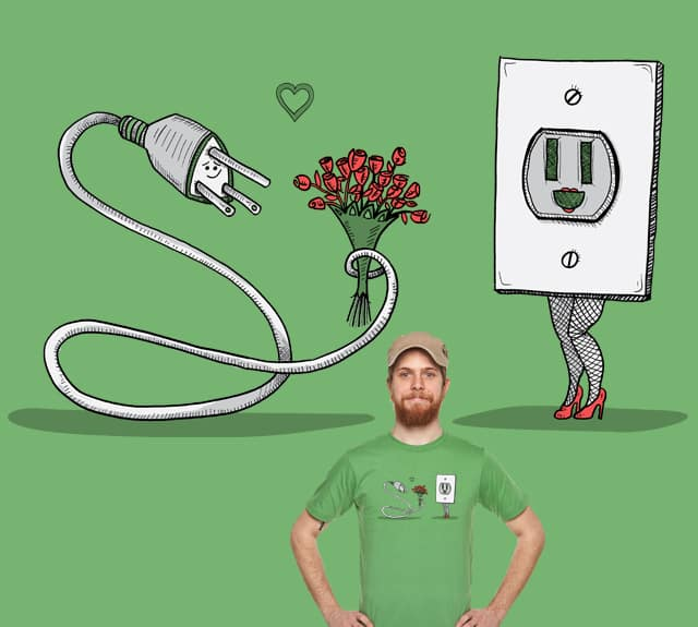 Mr. Plug Loves Ms. Socket by HorsefaceDee on Threadless