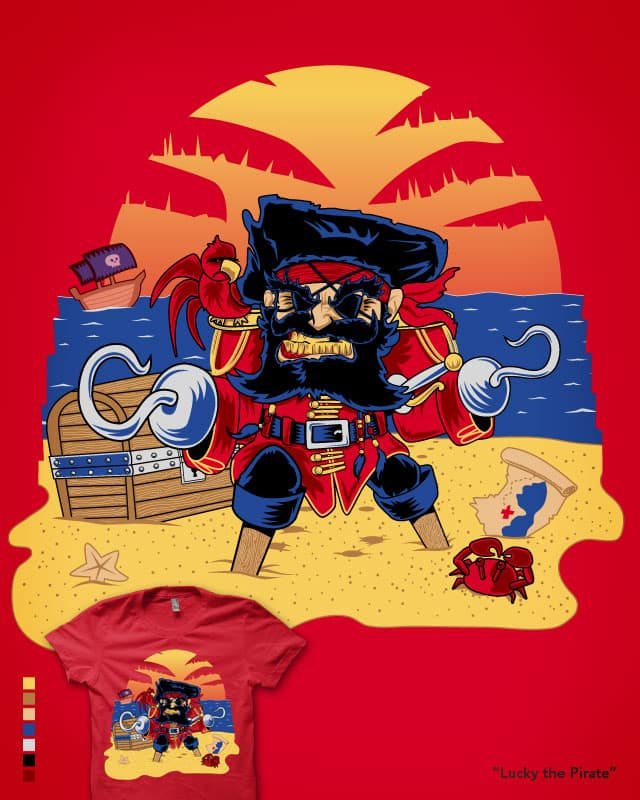 Lucky the Pirate by nickv47 on Threadless