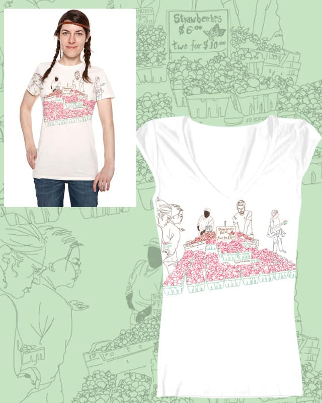 The Strawberry Market by Oioijianom on Threadless