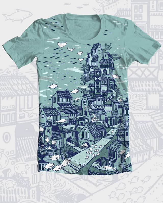 Seacity by spyyderray on Threadless
