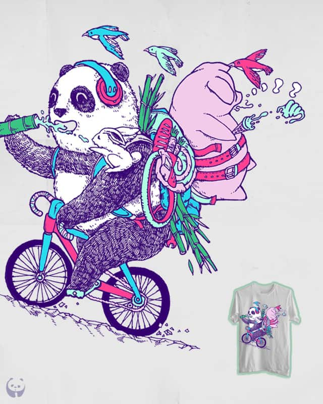 Piggybacking by Fat panda on Threadless
